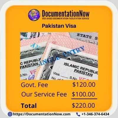 Pakistan Visa Fee