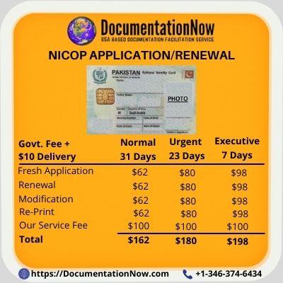 NICOP Renewal in USA